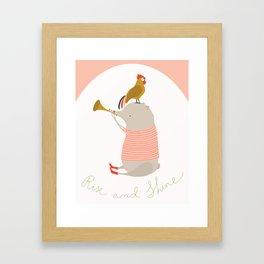Rise and Shine Framed Art Print