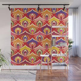 Flower power hippie floral Wall Mural