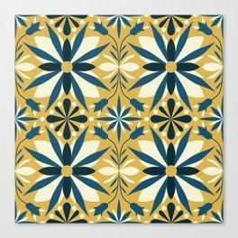 Geometrical flowers Canvas Print