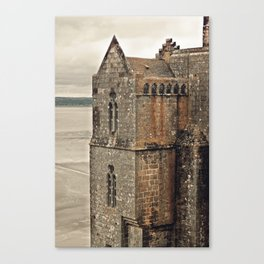 Mont St. Michel - Square Tower - Brittany France Canvas Print
