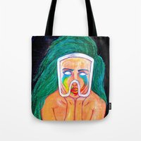 artpop Tote Bags featuring ARTPOP by KALEEMXWILL ART