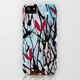 Blown Ink Painting Collage iPhone Case