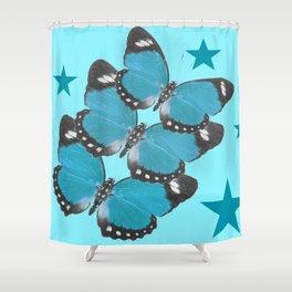 Butterflies and Stars Shower Curtain