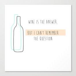 question? Canvas Print