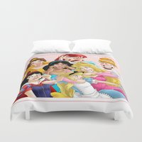 artpop Duvet Covers featuring Smile for the Camera by Brianna