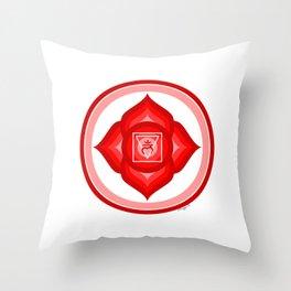 I AM - Red Lotus Root Chakra Yoga Meditation Mantra Throw Pillow