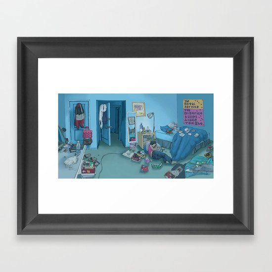 DC Sleeps Framed Art Print