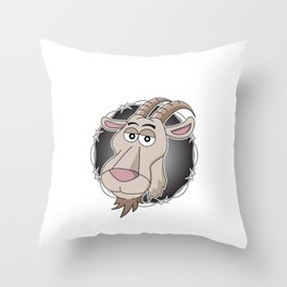 """Relax I've goat this"" funny hilarious tee design for you and your friends and your family! Throw Pillow"
