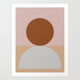 Abstract Geometric #fallwinter #colortrend #decor Art Print