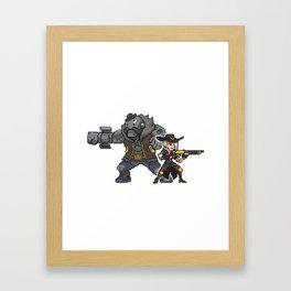 ashe and bob Framed Art Print