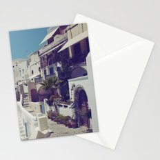 Streets of Santorini I  Stationery Cards