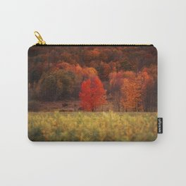 Red Tree in Fall, Binghamton, New York Carry-All Pouch