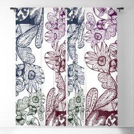 Freehand Multi Doodle Heart Pattern Zenart Design Blackout Curtain