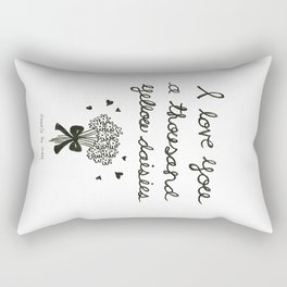 A thousand yellow daisies Rectangular Pillow