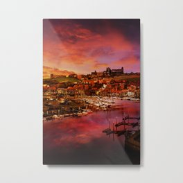 Whitby Port Metal Print