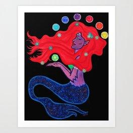 Cosmic Mermaid Art Print