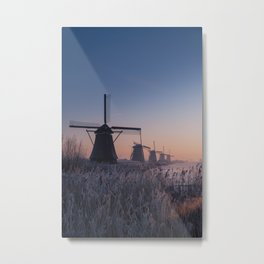 Sunrise at Kinderdijk II Metal Print