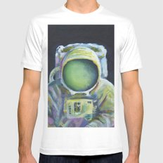 Astronaut MEDIUM Mens Fitted Tee White