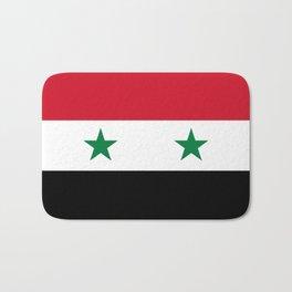 Flag of Syria, High Quality image Bath Mat