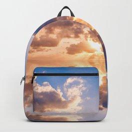 sunset sky over ocean water - landscape photography Backpack