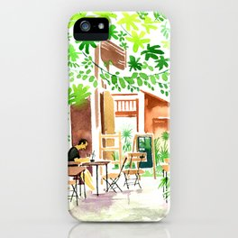 I'm in green. iPhone Case