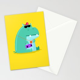 Hip Hop Hippo Stationery Cards