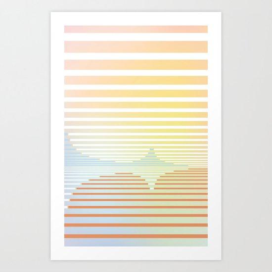 ... stripes 004 ... Art Print