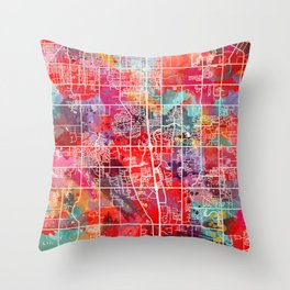 Southaven map Mississippi MS 2 Throw Pillow