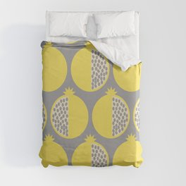 Pomegranate Line Up Yellow Duvet Cover