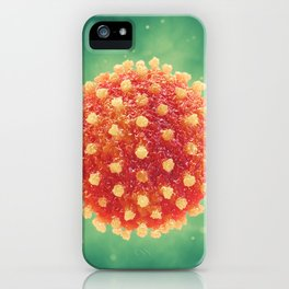Pandemic virus iPhone Case