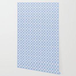 Sky blue and dark blue stars geometric pattern Wallpaper