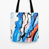 american Tote Bags featuring American by LA_Graffiti Decor