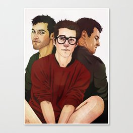 Handsome Threesome Canvas Print