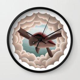 Dreamscape #3 (or Sea Turtle in Flight) Wall Clock