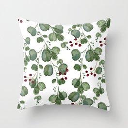 Christmas Eucalyptus Throw Pillow