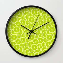 You're sub-lime! (Seamless lime pattern) Wall Clock