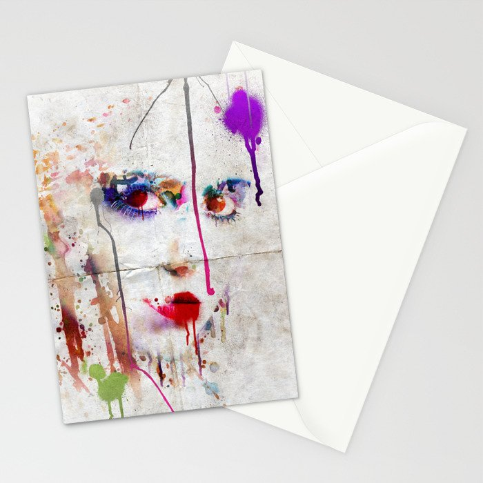 Drip face Stationery Cards