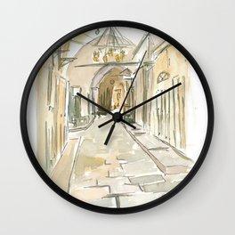 Jerusalem Market Scene Via Dolorosa Friday Wall Clock