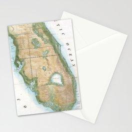 Vintage Map of Florida (1848) Stationery Cards