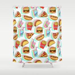 Rainbow Fast Food Shower Curtain