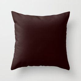 Delirious Place ~ Dark Red-brown Throw Pillow
