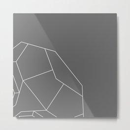 Golden Lines Metal Print