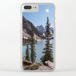 Landscape Photography Lake Moraine Canada Clear iPhone Case