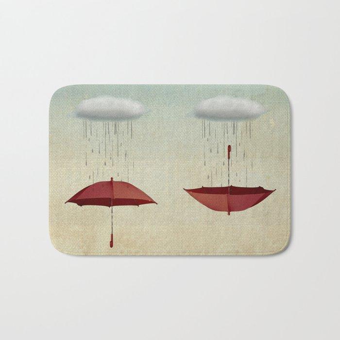 embracing the rain Bath Mat