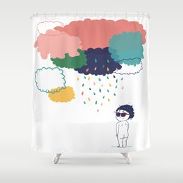 Cloudy shower Shower Curtain