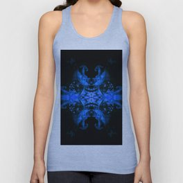 Blue Fire Dragons Unisex Tank Top