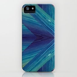 Blue remnants of wood iPhone Case