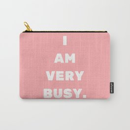 LadyBoss, Lady Boss - girl power, sassy, text, quote, busy Carry-All Pouch