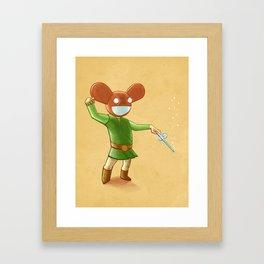 Link Mau5 Framed Art Print