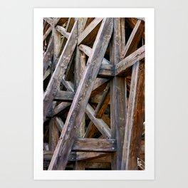 Wooden Intersections Art Print